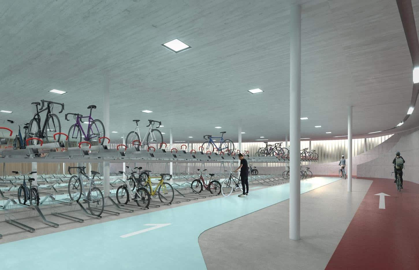 S2 Fahrradstation – Render Innen